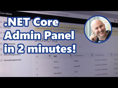 Add An Admin Panel to a .NET Core App in 2 Minutes!