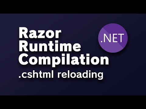 Razor Runtime Compilation - Reload Razor view in .NET Core 5.0 without recompiling