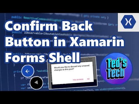 How to confirm Xamarin Forms Shell Navigation Back Button